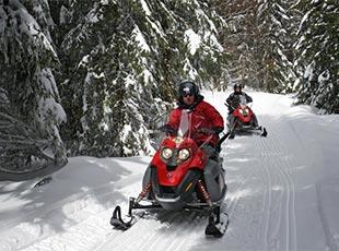 sport hiver la plagne motoneige